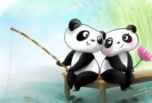 Cute Couple Panda Wallpaper