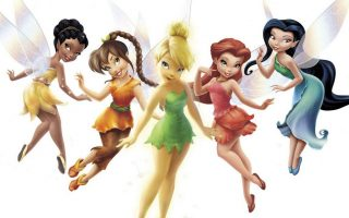 Cute Tinkerbells Wallpaper