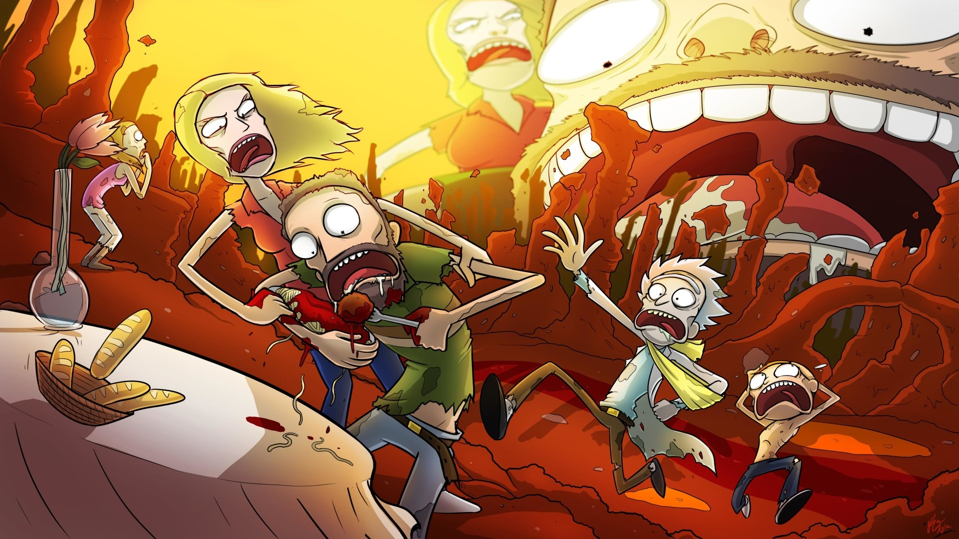 HD Rick Morty Backgrounds with image resolution 1920x1080 pixel. You can use this wallpaper as background for your desktop Computer Screensavers, Android or iPhone smartphones