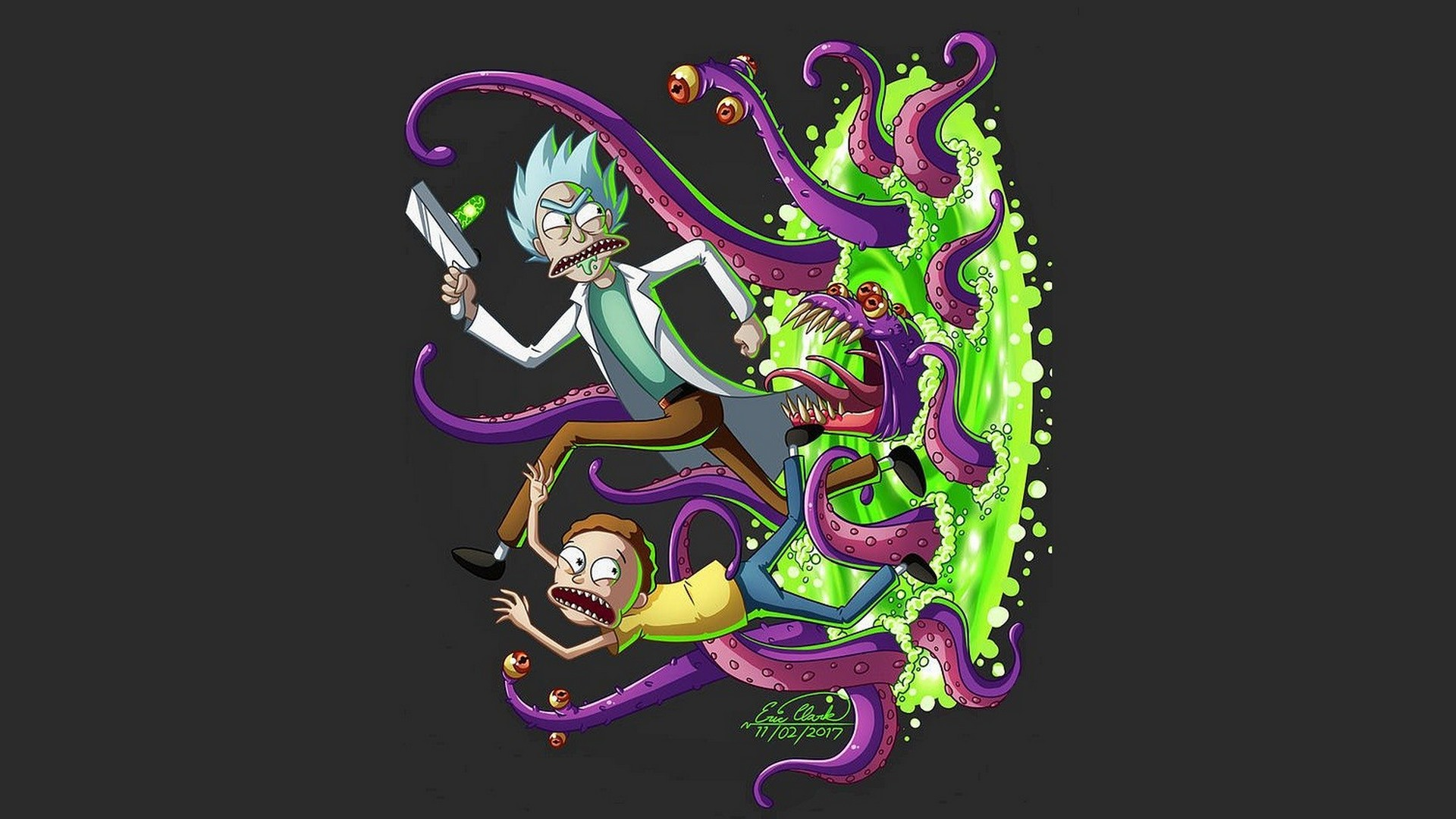 Wallpaper New Rick and Morty with image resolution 1920x1080 pixel. You can use this wallpaper as background for your desktop Computer Screensavers, Android or iPhone smartphones